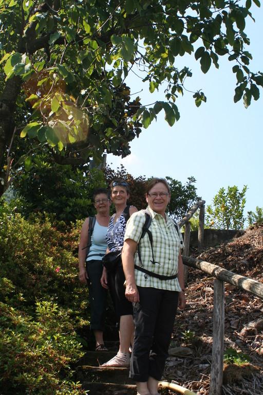 Dorli, Lydia und Margrith im Parco Botanico