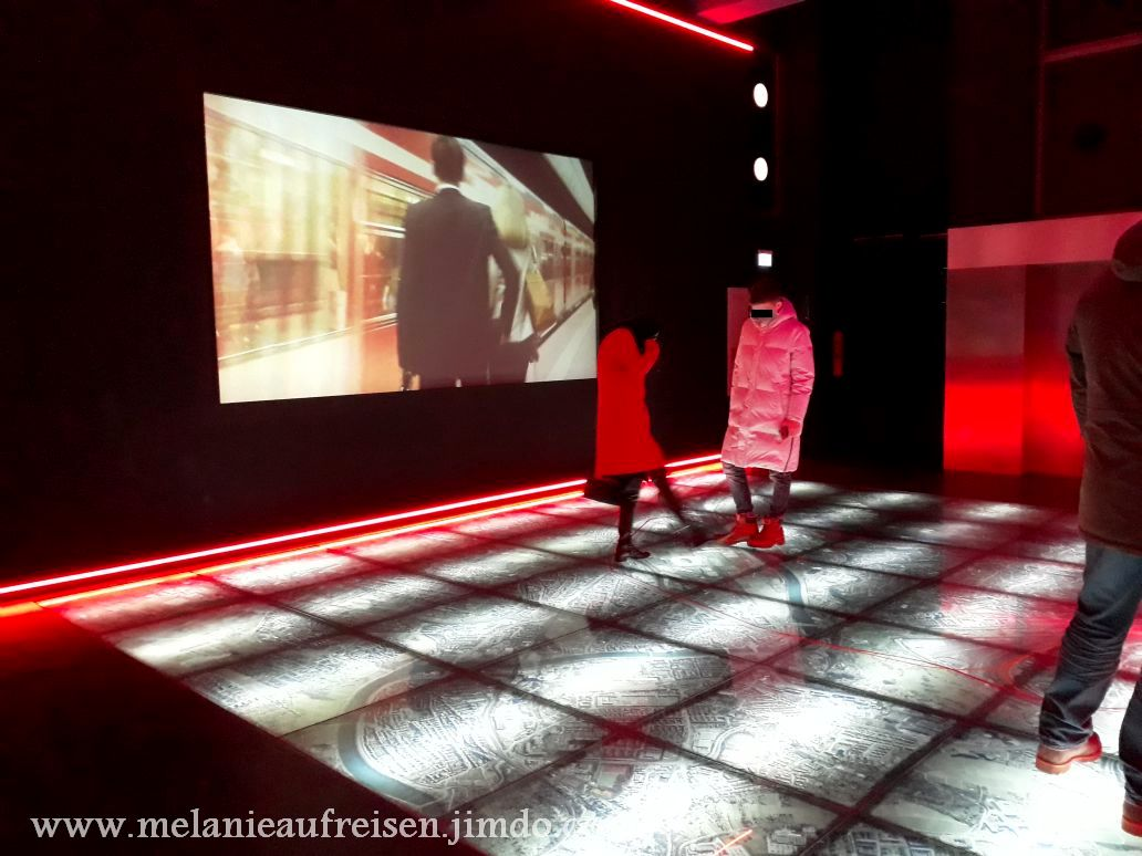 """Einer der Ausstellungsräume zur Ausstellung """"Stuttgart 21"""""""