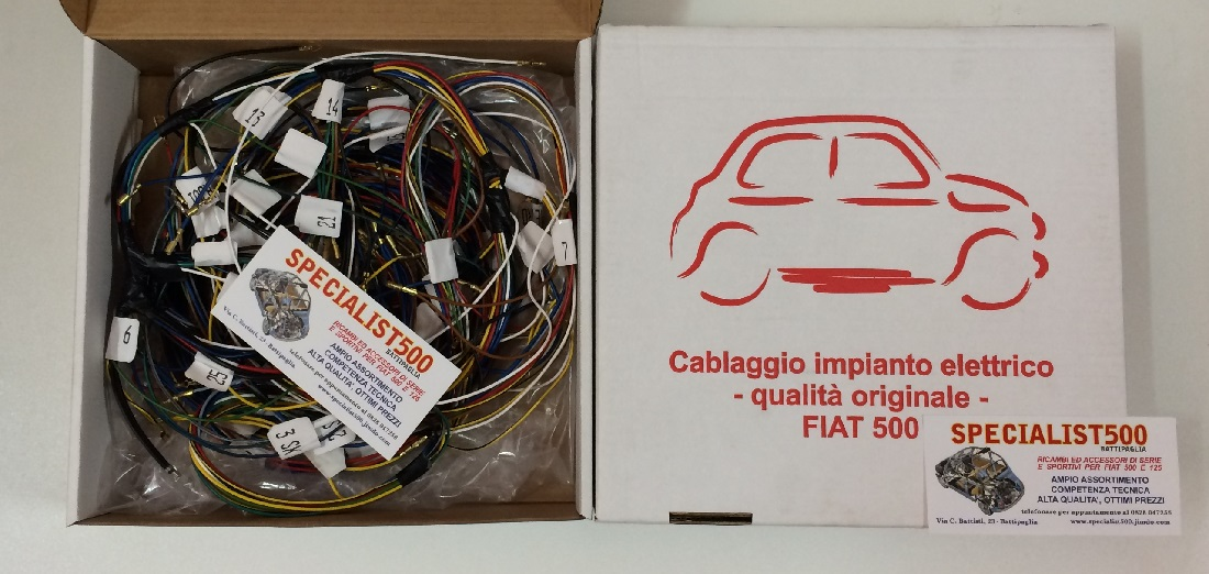 Schema Elettrico Per Accensione Elettronica Fiat 126 : Parti elettriche 1 500specialist fiat 500 specialist500