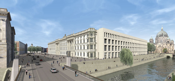 Berlin, Ostfassade des Humboldtforums, Entwurf Franco Stella, © Stiftung BS-HUF/Franco Stella