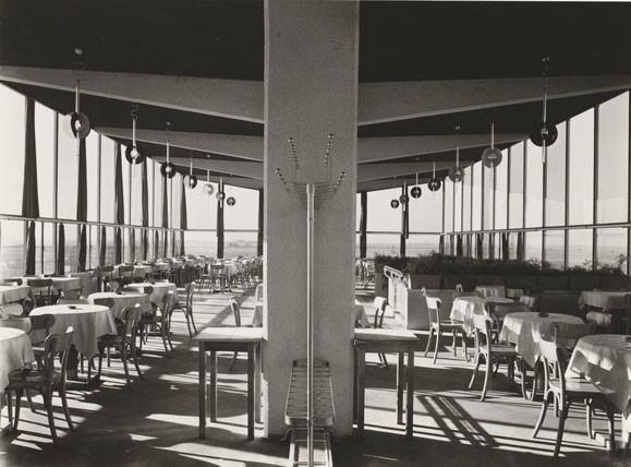 Hans Finsler, Fotografie des Obergeschosses des Flughafenrestaurants Halle-Leipzig, 1931, Kunstmuseum Moritzburg Halle