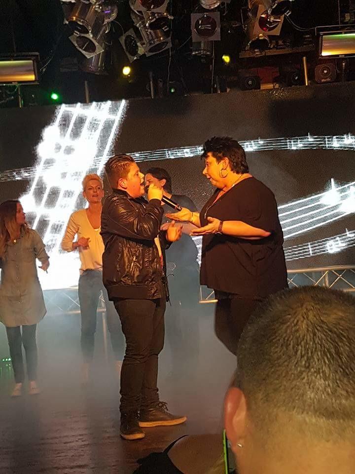 Met Yvonne in de Ster op het podium