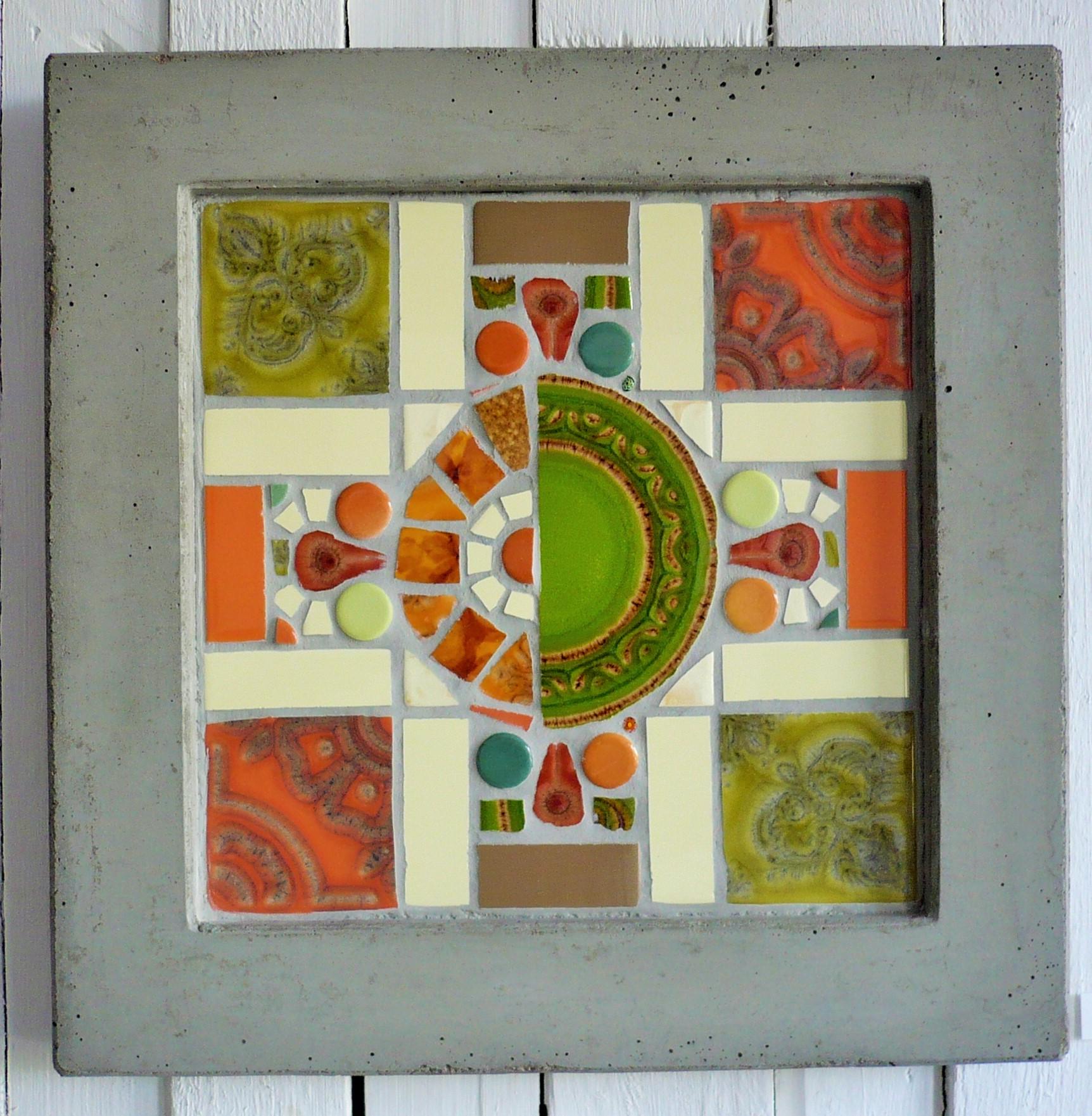 Tablett oder Bild in den Maßen 40x40 cm (Mosaik 29x29 cm)