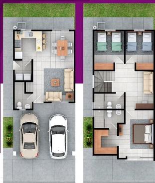 Distribucion casa modelo veneto brianzzas residencial, Escobedo