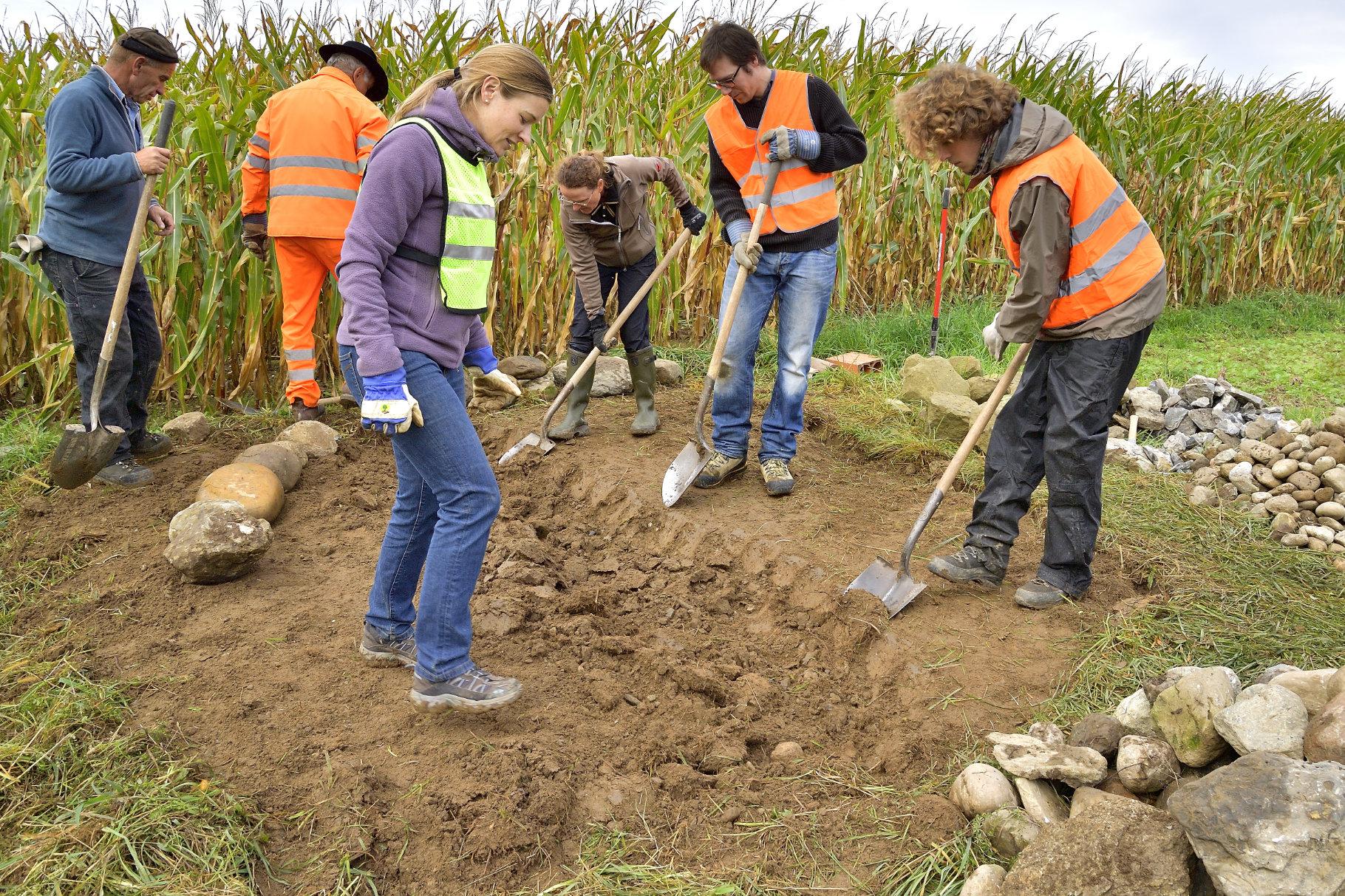 Boden auflockern für Fundament