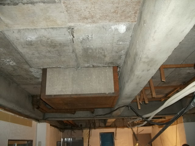解体工事:天井