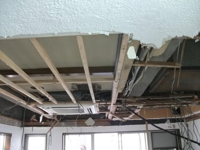 解体工事:屋根