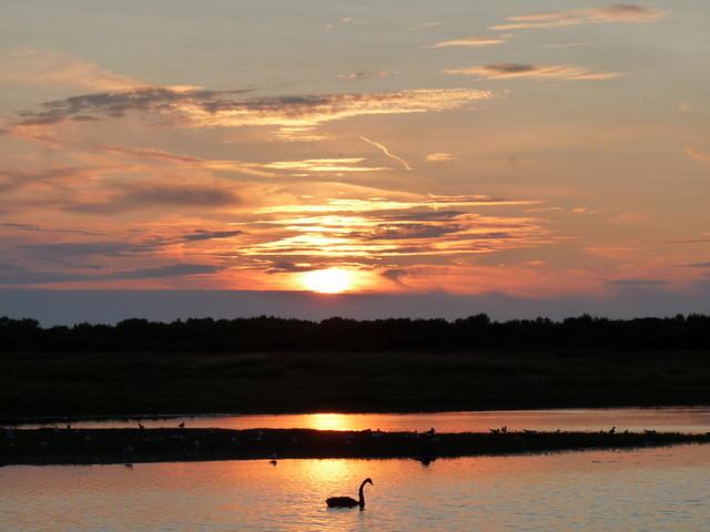 coucher de soleil au Crotoy