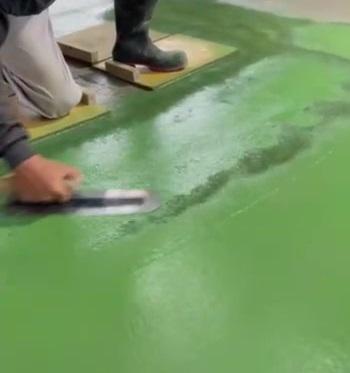 御殿場市T工場内の土間カラークリート工事
