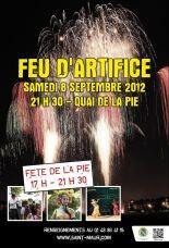 Feu d'artifice quai de La Pie 8 septembre 2012 à partir de 21h30