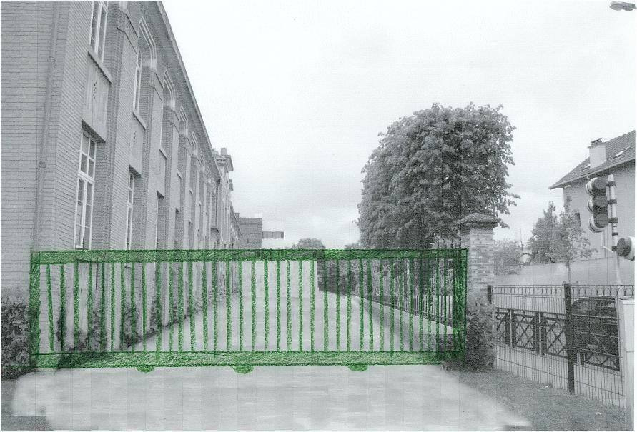 Proposition d'ajout d'un portail coulissant vu du coté parc