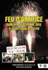 Feu d'artifice quai de la Pie 8/9/12 21h30