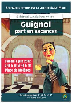 Guignol à Saint-Maur le Samedi 9 Juin 2012 à 15h15 et 16h15 place des Molènes