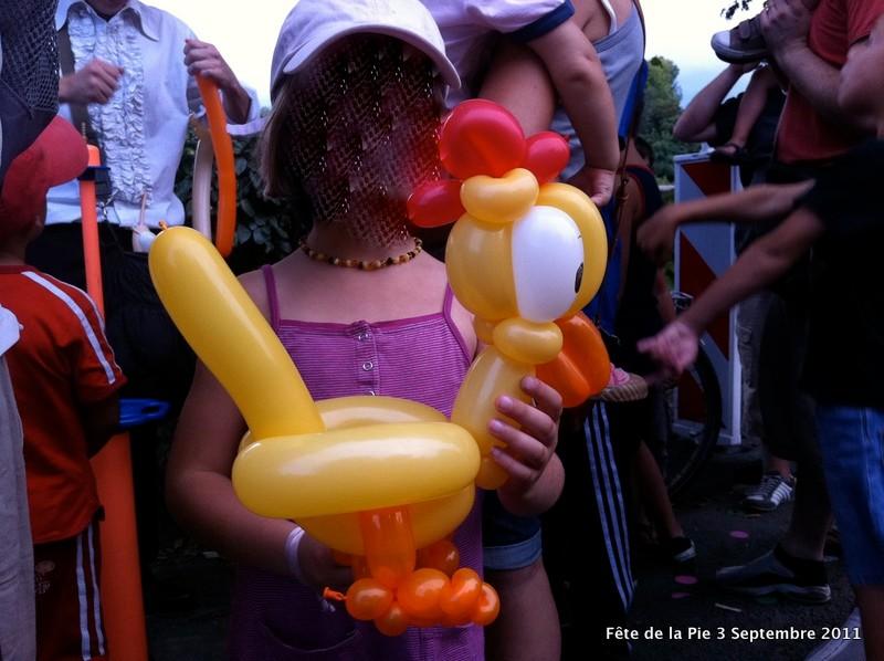 Poule en ballons