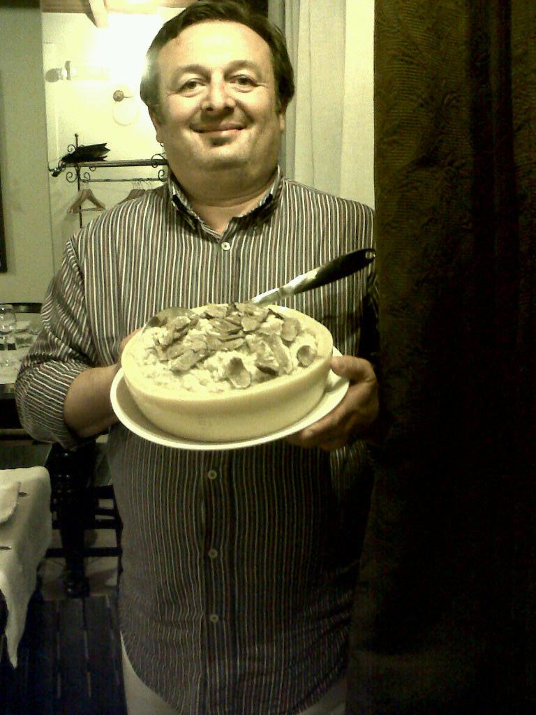 oste con risotto al tartufo del dragone