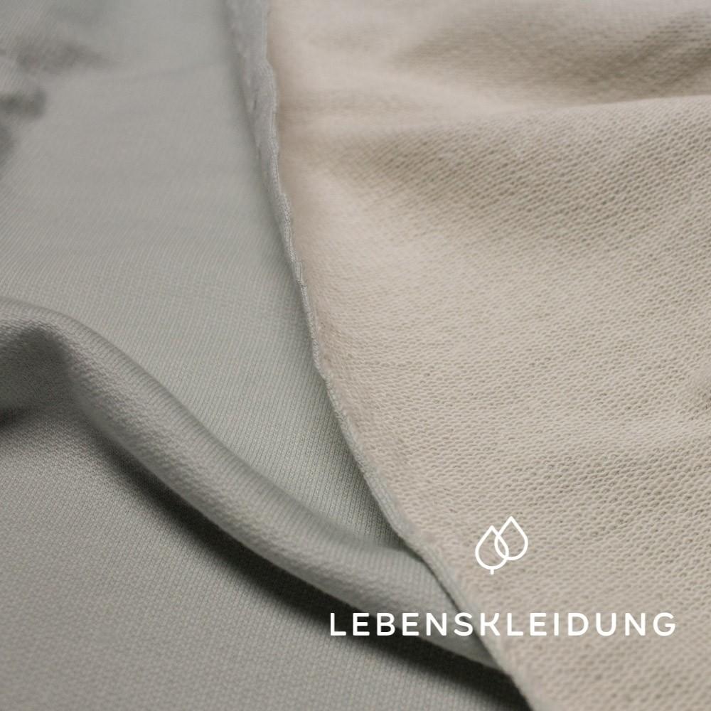 Himmelgrau, Bio Sommer Sweat Sprenkel (GOTS) Lebenskleidung, 100% Bio- Baumwolle, 260g/m2, 170cm