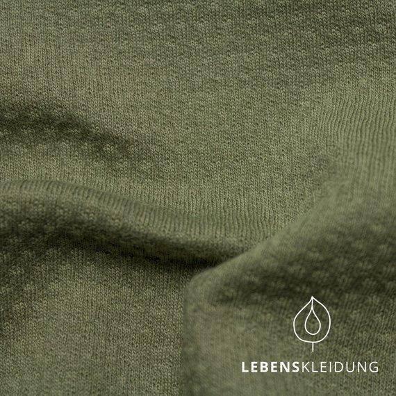 Olive, Bio Interlock DoubleFace 3D (GOTS) Lebenskleidung, 100% Bio- Baumwolle, 260g/m2, 140cm