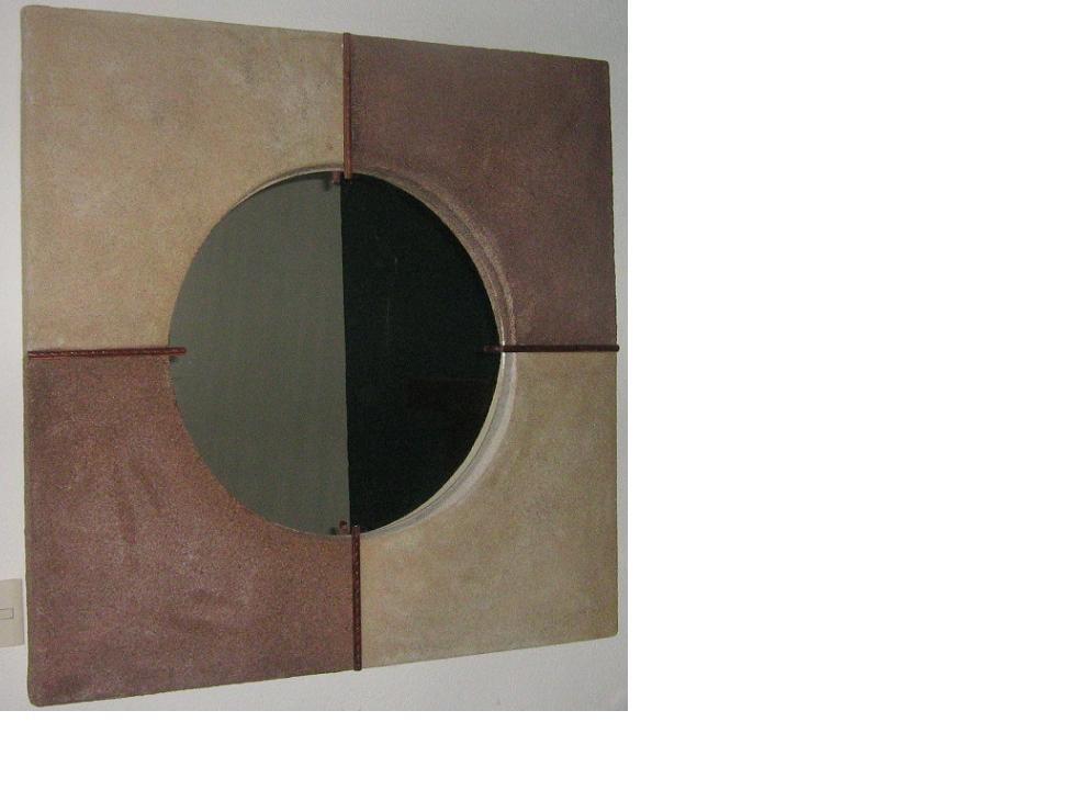 """""""Espejo"""" 1.20 x 1.20 mts fibra de vidrio"""