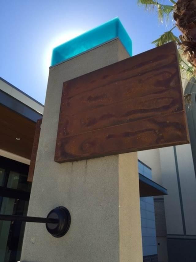 Lampara resina cristal panel fibra de vidrio imitación madera