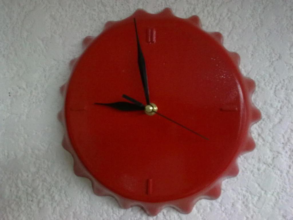 """""""Reloj corcholata coca-cola"""" fibra de vidrio"""