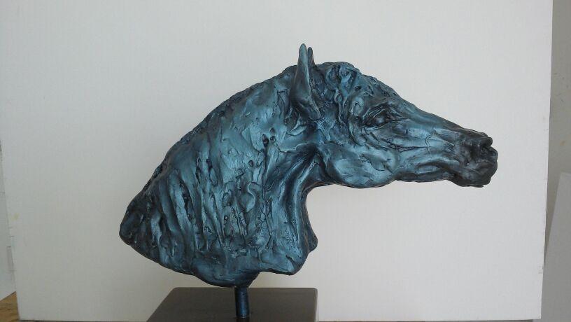 """""""Cabeza de caballo"""" Resina sólida"""