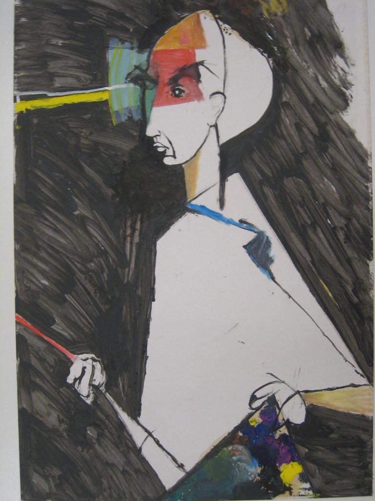 auto portrait au chevalet