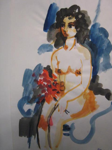 étude de nu (aquarelle)