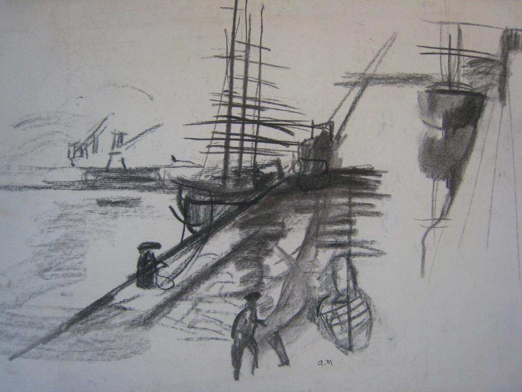 voilier sur le port de Nantes    disponible