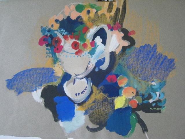 étude fleurs (gouache)