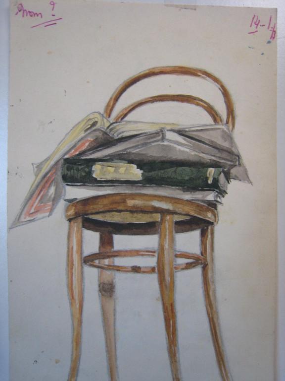 dessin lycée Clémenceau classe de 4em.1952