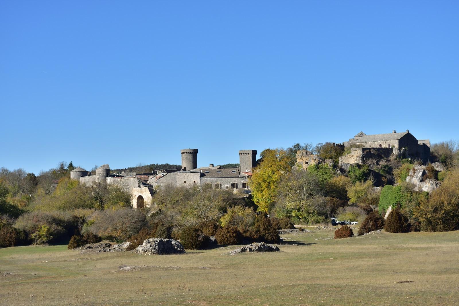La Couvertoire, cité fortifiée par les templiers. Photo prise en octobre 2017