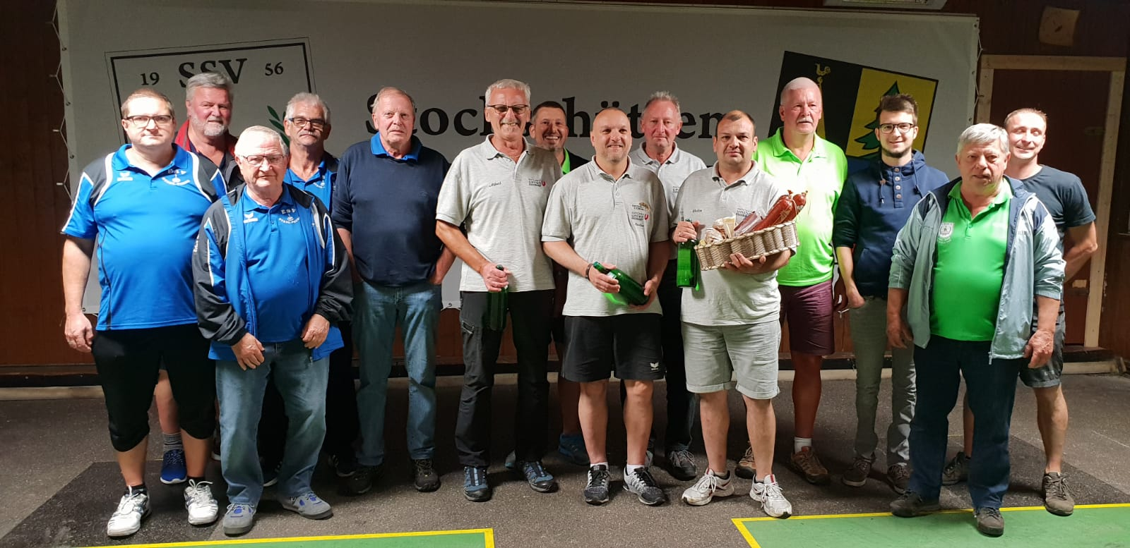 Turnier am 22. 6. 2018 - v.l. 2. USC Attergau, Sieger Union Gschwandt, 3. SSV Altmünster