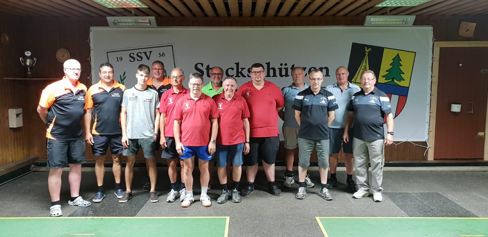 Turnier am 21. 6. 2018 - v.l. 2. ASKÖ Bad Ischl, ESV ASKÖ Viechtwang, 3. USC Attergau