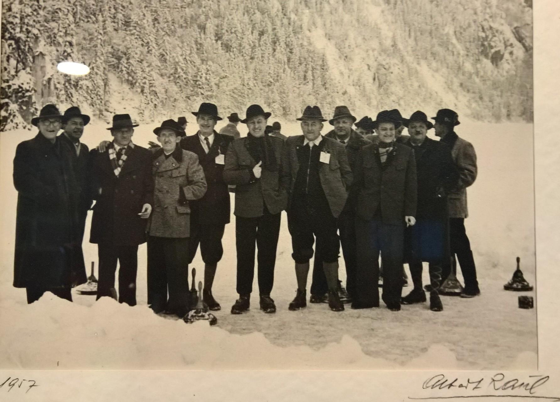 1957 - Tpolitzsee Stockschützen des ESV Altmünster