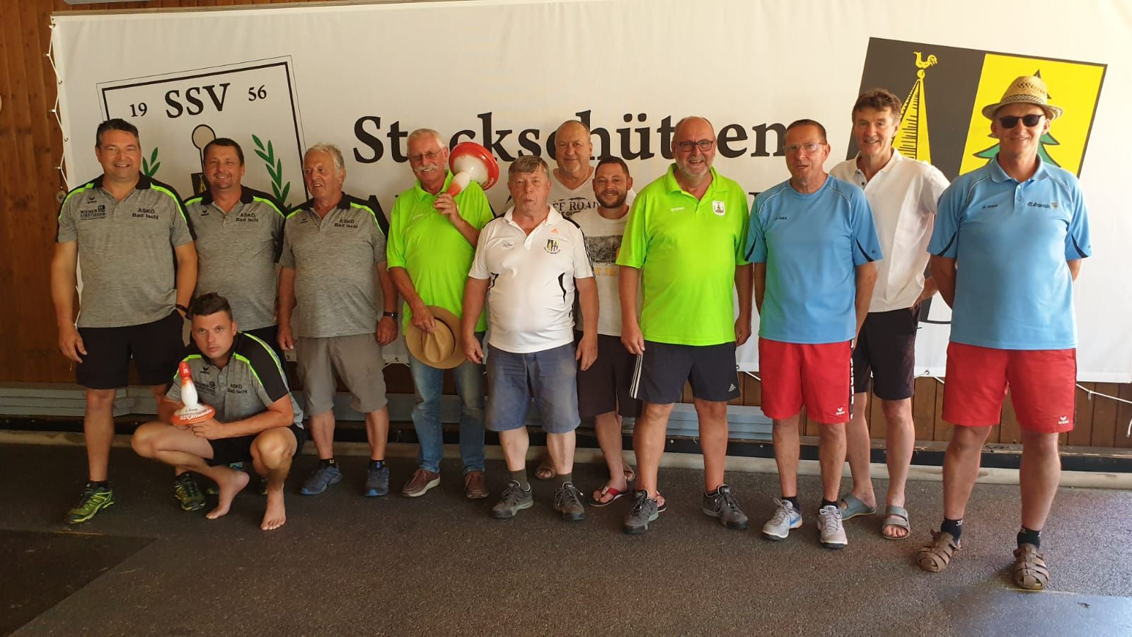 Parkturnier Samstag 29.6.19 - 2. ASKÖ Bad Ischl, Sieger Die 4 Guadn, 3. SV Hernstein