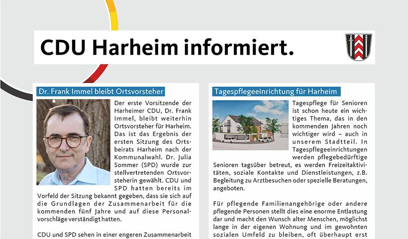 CDU Harheim informiert.