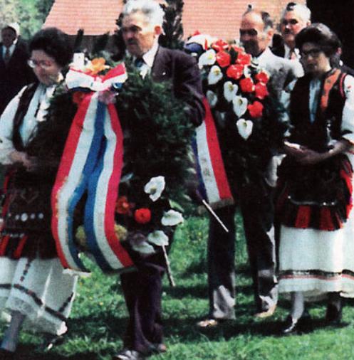 Andrija Rohaček predvodi procesiju u Bleiburgu
