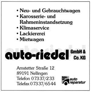 Auto-Riedel, Nellingen