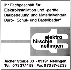 Elektro-Hirschle, Nellingen