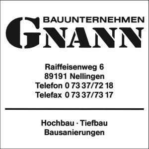 Gnann Bauunternehmung, Nellingen