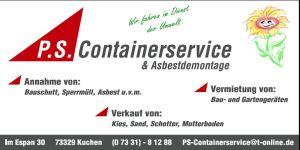 Containerservice, Kuchen