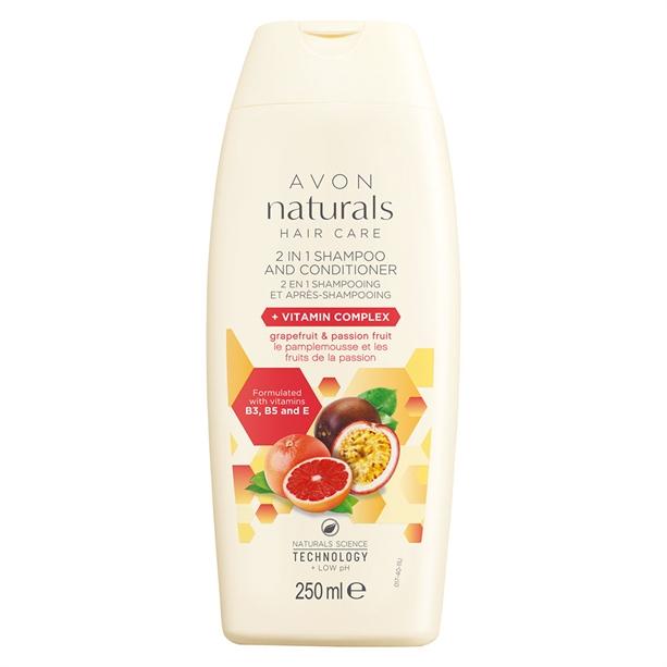 Shampoo und Pflegespülung 2 in 1.  250 ml. 3,50 € (Grapefruit, Passionsfrucht)