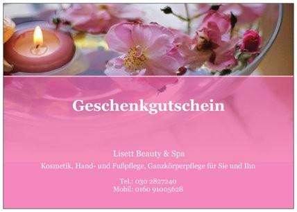 Gutschein/ Blumen/ Vorderseite