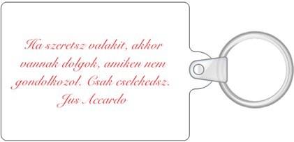 Schlüsselanhänger/ Kosárka/ Rückseite/ Text/
