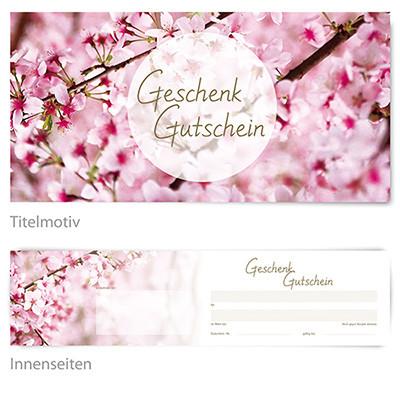 1. Geschenkgutschein-karte/ Frühling/ kostenlos