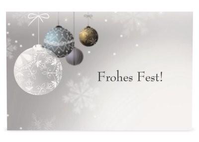 Gutschein/ Frohes Fest/ Vorderseite/ kostenlos