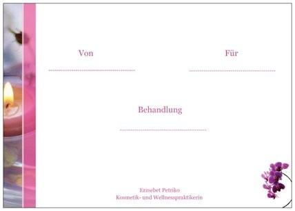 Gutschein/ Blumen/ Rückseite