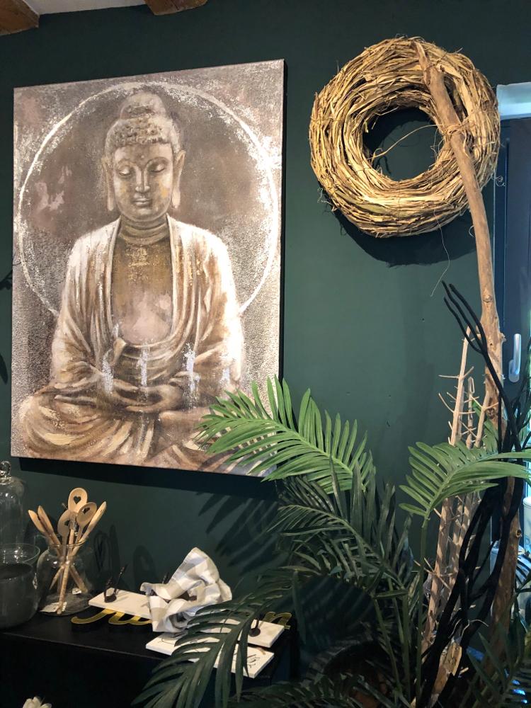 Buddha Bild ca 80 cm breit und 1 Meter hoch.  Euro 225.-