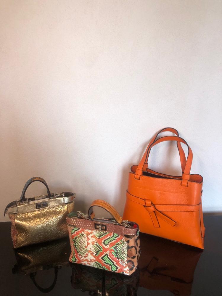Kleine Taschen Euro 49,50 & orange Ledertasche Euro 79,50
