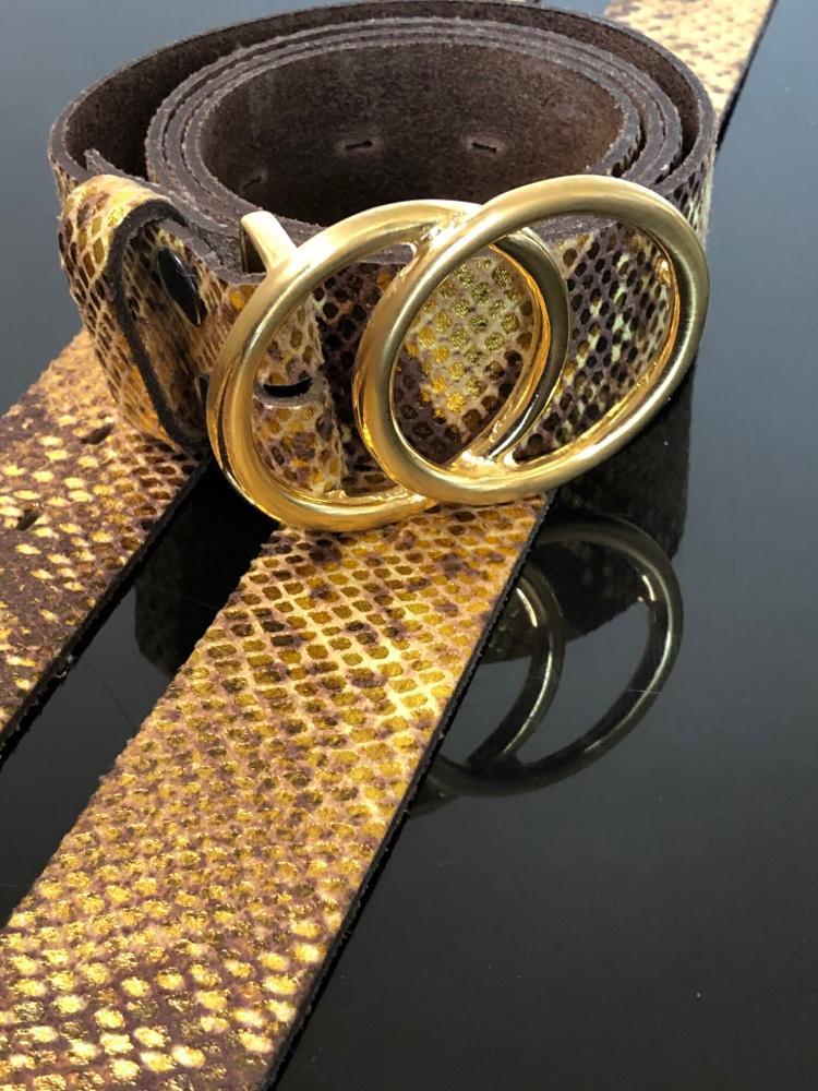 Goldene Gürtel sind voll im Trend  Euro 39,50  plus Schnalle Euro 29,50